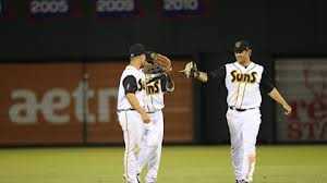 Right fielder Kyle Jensen(above right)belted his 24th home run of the season and drove in four runs to lead the Suns past the Jackson Generals 10-9 at Pringles Park.